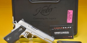Kimber Stainless II 1911 45 W/ Lasergrips